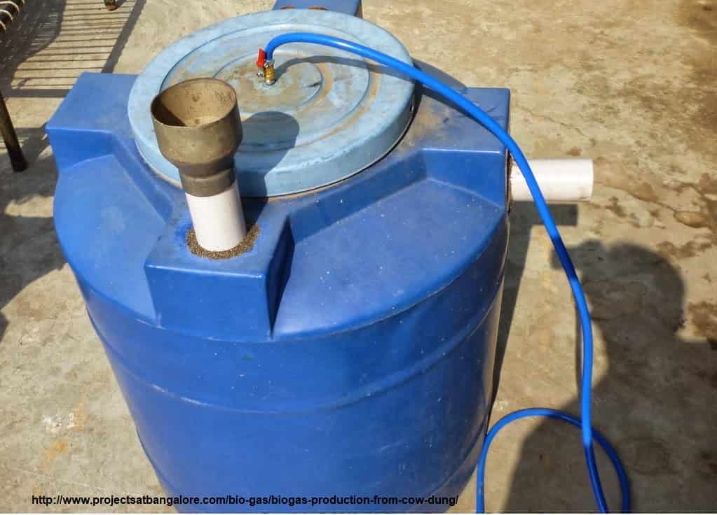 Biogas Production from Cow Dung